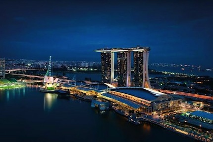 Marina Bay Sands, the Singapore icon, is a Foreign Direct Investment by Sands of Las Vegas