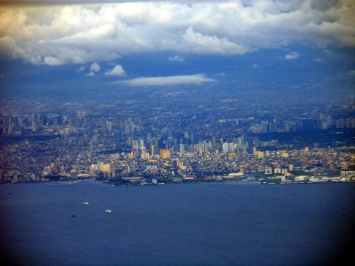 Manila Philippines from the air Aerial Pictures Metro Manila
